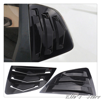 Car Styling 2PCS ABS Plastic Rear Window Triangle Shutters Cover Trim For Honda Fit Jazz 2014 2015 2016 2017 2018 2019