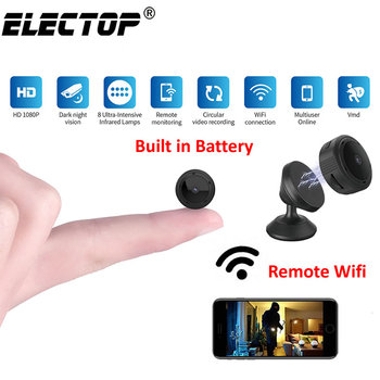 Electop mini kamera Wi-Fi 1080P IR Night Vision strona główna aparat zabezpieczeń IP CCTV detekcja ruchu dla dzieci Monitor bezprzewodowy kamera DVR z tanie i dobre opinie 1080 p (full hd) CMOS W10 A10 A11 A12 Microsd tf mini camera wifi mini camera hd mini camera 1080P mini camera ip ip camera wifi