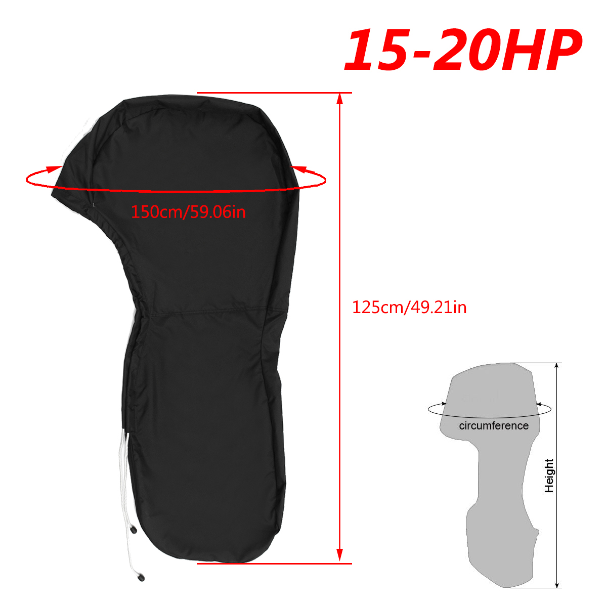 600D 6-225HP Boat Full Motor Cover Outboard Engine Protector