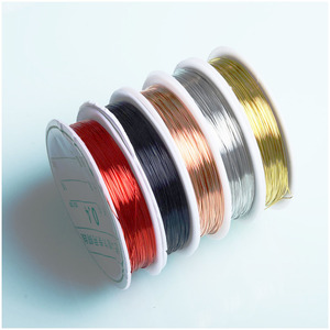 Copper Wire 0.3mm 0.4mm Thick Multi-color Optional Copper Wire DIY Accessories for Jewellery Making