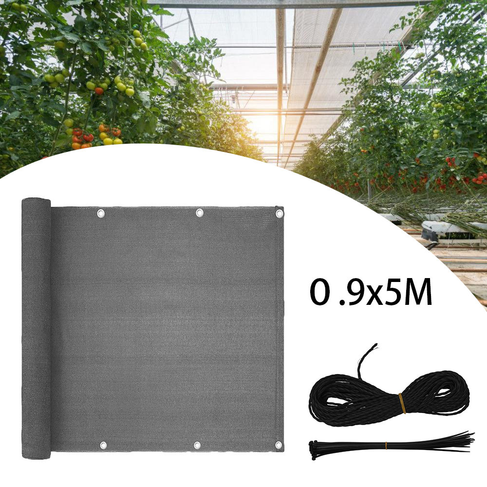 1PC Wind Sunshade Net Shelter Privacy Screen Breeze Sewing Buckle Outdoor Awning Balcony Garden Fence Cover with Ties