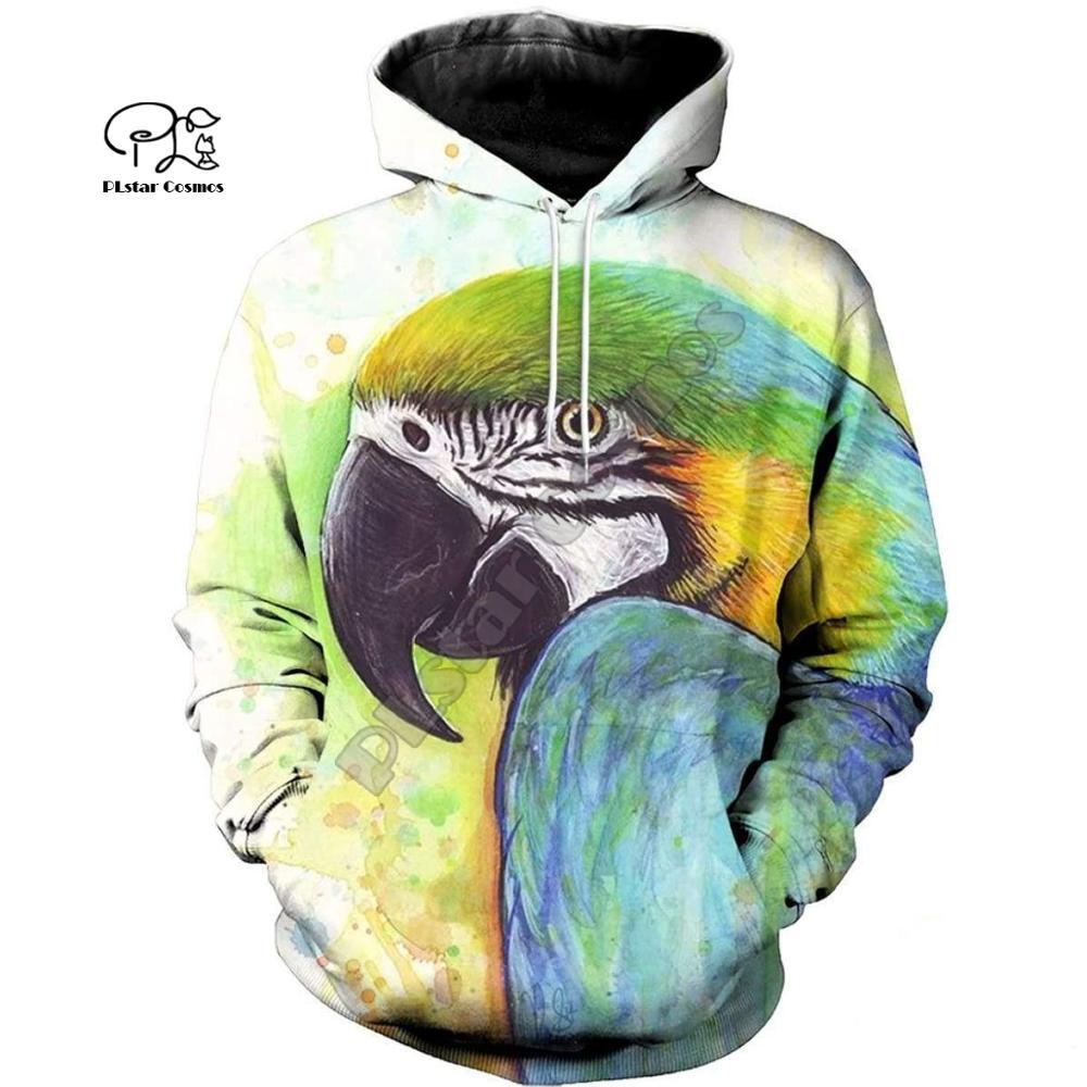 PLstar Cosmos Parrot Art Animal Tracksuit 3DPrint Hoodie/Sweatshirt/Jacket/shirts MenWomen Casual Harajuku camo colorful style-7