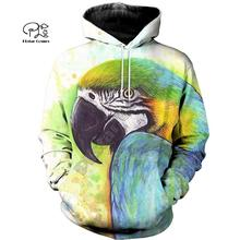 PLstar Cosmos Parrot Art Animal Tracksuit 3DPrint Hoodie/Sweatshirt/Jacket/shirts MenWomen Casual Harajuku camo colorful style-7