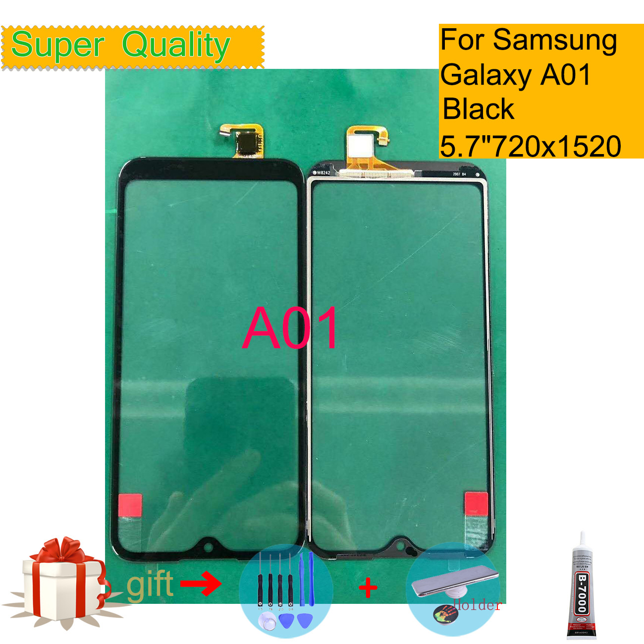 Replacement For Samsung Galaxy A01 2019 Touch Screen Digitizer Panel Sensor A01 A015 SM-A015F/DS SM-A015G/DS Front Outer Glass