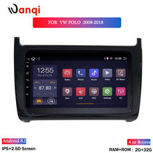 2.5 D Dell'automobile DELLO SCHERMO di Radio Multimedia Video Player di Navigazione GPS Android 8.1 Per Volkswagen POLO berlina 2008-2018(China)