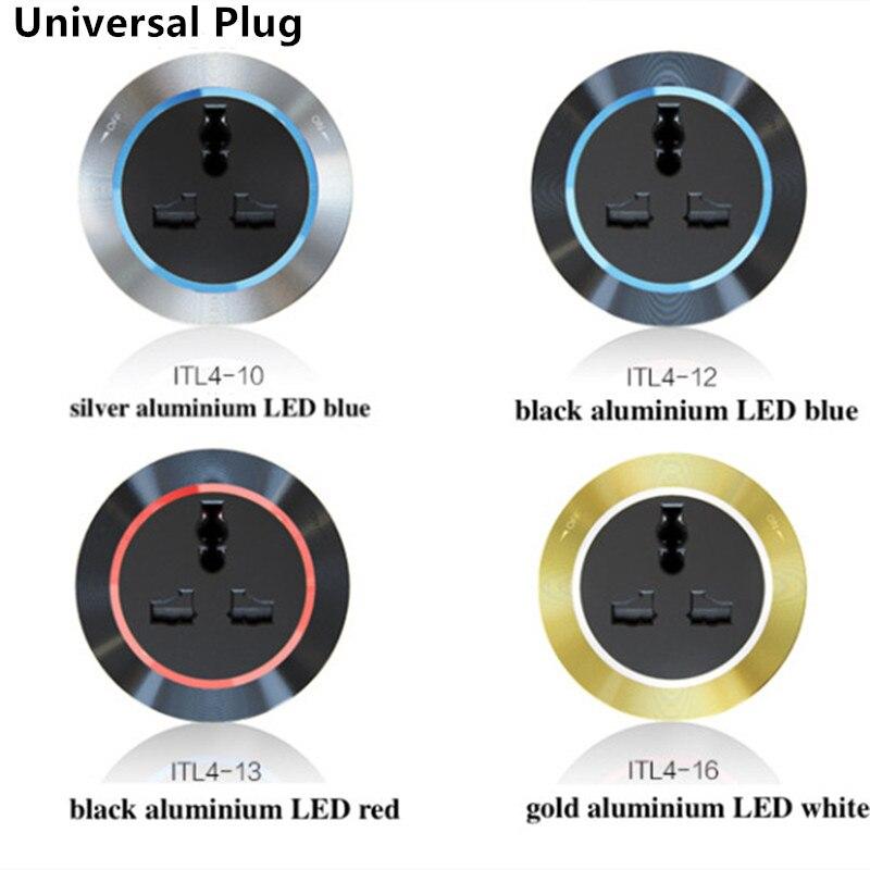 UK universel CN Plug prise électrique prise Internet USB adaptateur mobile pour voie d'alimentation terne noir rouge bleu jaune blanc