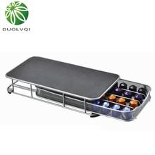 Duolvqi держатель для кофейных капсул ящик для хранения кофе органайзер для капсул для 40 шт. капсул Nespresso