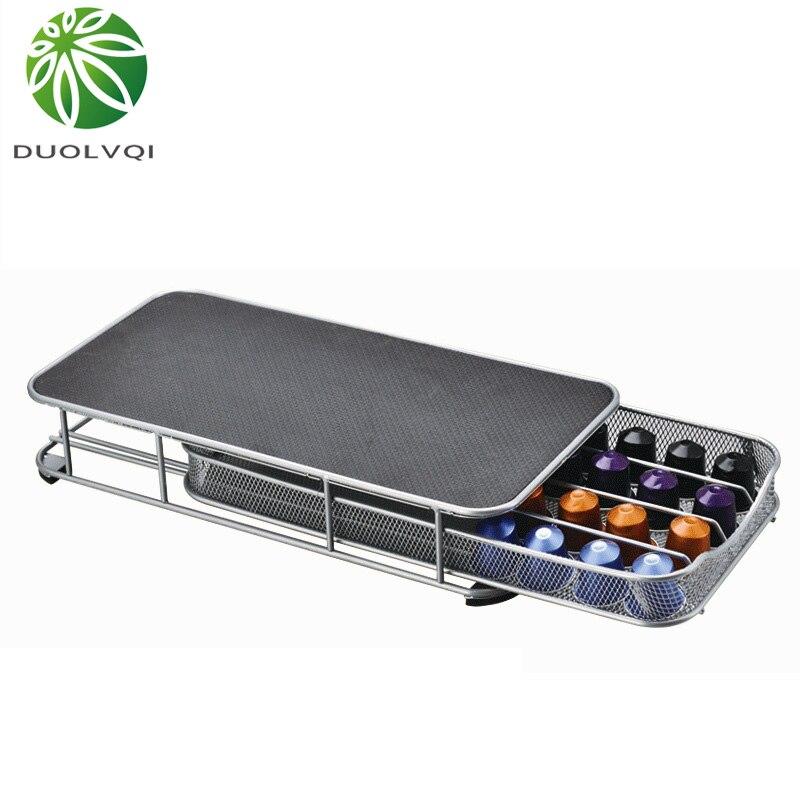 Duolvqi קפה Pod מחזיק אחסון מגירת קפה קפסולות ארגונית עבור 40pcs כמוסות
