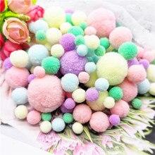 Pompons doux en peluche, 8mm 10mm 15mm 20mm 25mm 30mm, artisanat, bricolage, décoration de maison, fournitures de couture 20g