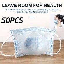 50 pçs reutilizável 3d máscara titular suporte de máscara não-vara batom boca nariz suporte respiração artefato titular la rímel