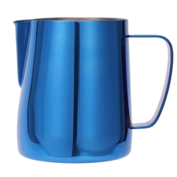 Stainless Steel Titanium Blue Frothing Jug Espresso Coffee Pitcher Steam & Froth Milk For Lattes & Cappuccinos