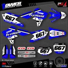 PowerZone – autocollants de fond graphique d'équipe personnalisés, Kit d'autocollants 3M pour YAMAHA 14-18 YZ250F 15-18 YZ250FX WRF250 14-17 YZ450F 022