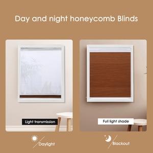 Image 5 - Mode Dag en Nacht Honingraat Blinds Nieuwe Aankomst Dubbele Cellular Blinds Shades Voor woonkamer Slaapkamer 50% ~ 100% shading rate