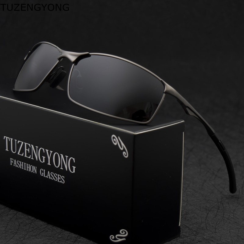 2019 marca polarizada óculos de sol dos homens nova moda olhos proteger óculos de sol com acessórios masculino óculos de condução sol