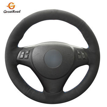Hand-stitched Black Suede Car Steering Wheel Cover for BMW M3 2009 2010 2011 2012 2013 E92 фото