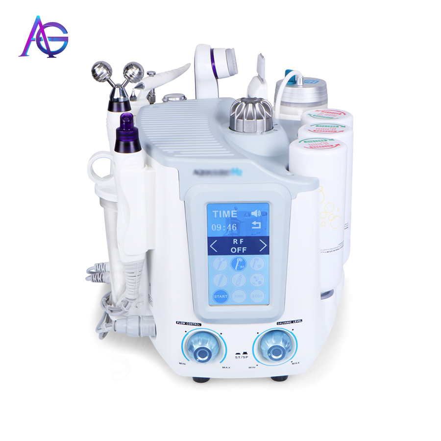 Portable Aquasure H2 Hydrafacial 6 In 1 Oxygen Machine Hydrogen Water Skin Tightening Facial Deep Cleaning For All Skin Type
