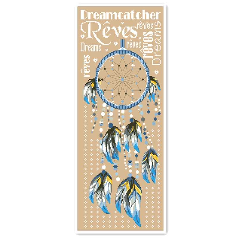 Dreamcatcher Kruissteek Kit Cartoon Veer Karakter Woord Ontwerp 18ct 14ct 11ct Linnen Vlassen Canvas Borduurwerk Diy Handwerken
