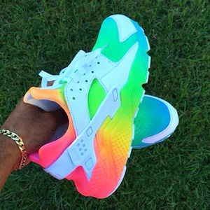 2020 Women's Shoes Outdoor Leisure Sneakers Multicolor Round Head Comfortable Running Sport Light and Comfortable Flat Shoes