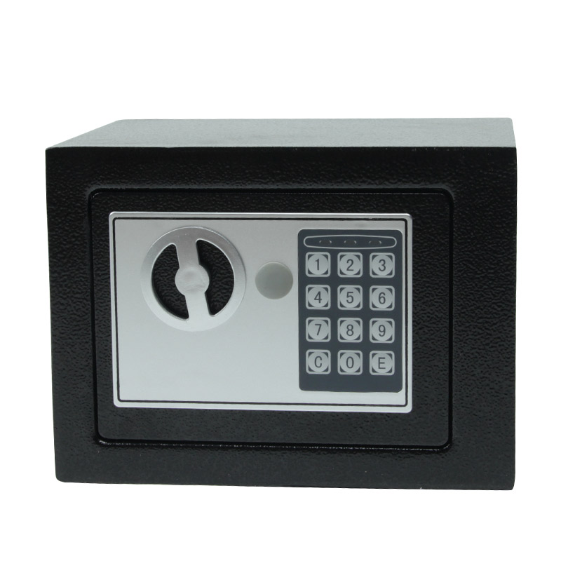 Digital Safe Box Small Mini Steel Safes Money Bank Safety Security Box Keep Cash Jewelry With Key Household Portable Safe NEW