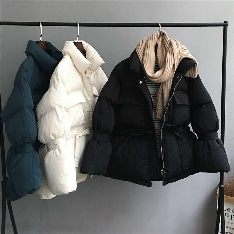 Vrouwen Winter Basic Jassen Parka 2019 Fashion Dikke Warme Lantaarn Mouw Tops Jassen Slanke Jassen Voor Vrouwelijke Parka Harajuku