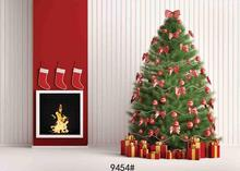 Vinyl Custom Photography Backdrops Prop Christmas day Christmas Tree Theme Photo Studio Background ST-0123 free shipping 5ft 7ft 150cm 215cm photography backdrops christmas snow tree bell villa door background