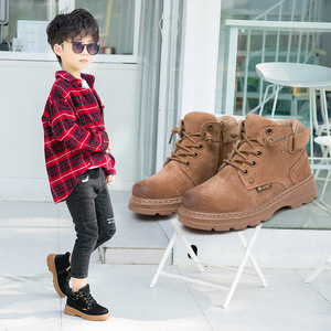 Image 5 - childrens Winter Boots For Boys 2019 Genuine Leather Kids Sneakers Toddler Girl Winter Shoes Fashion Plush Warm Martin Boots