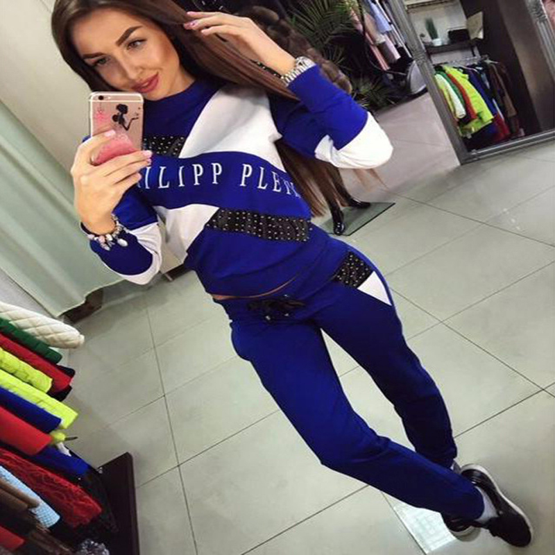 Outfits Women Casual Sportswear Letter Printed Pullover Hoodies Sweatshirt Long Sleeve Two Piece Set T-shirt And Pants Tracksui