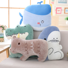 Creative Gift Siesta Pillow Sea Animal Pillow Plush Toy Doll Ragdoll Crocodile Shark Whale Cushion Sofa ragdoll