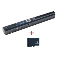 Mini Portable Scanner 900DPI LCD Display JPG/PDF Format Document Image Iscan Handheld Scanner with 32G Micro SD/TF Flash Card|Scanners| |  -