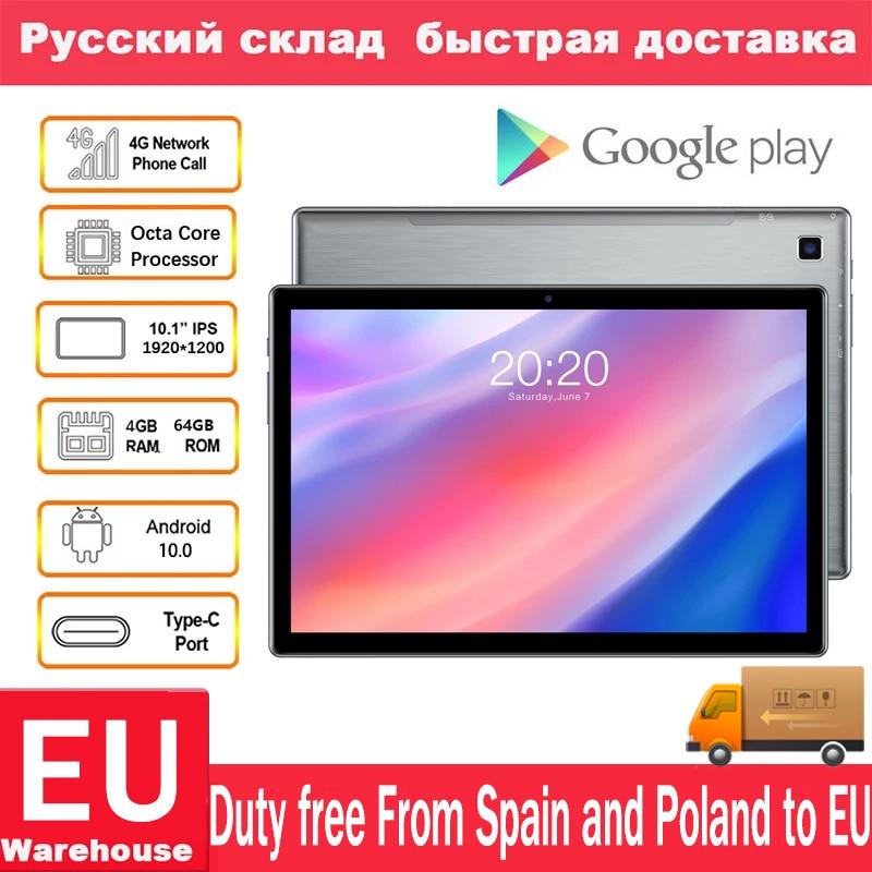 Teclast P20HD подключается к сети 4G Телефонный звонок планшетный ПК с системой андроида и 10 Планшеты Octa Core 10,1 дюймов IPS 1920 × 1200 4 Гб Оперативная памя...