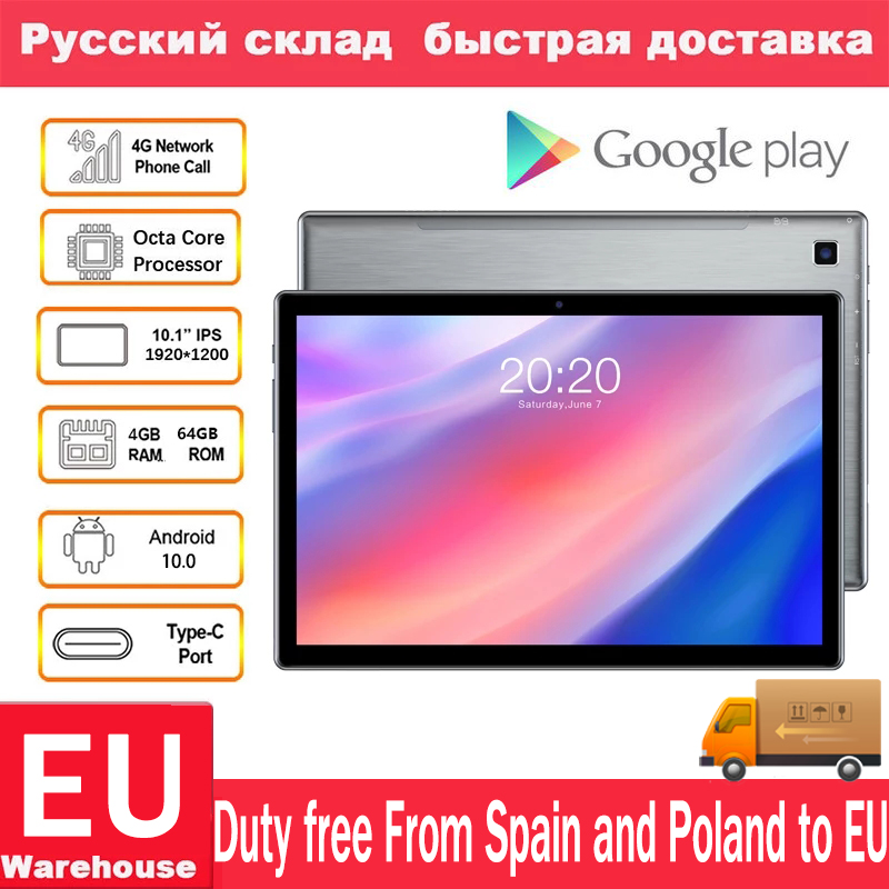 Teclast p20hd 4g rede telefone chamada tablet android 10 tablets octa núcleo 10.1 polegada ips 1920 × 1200 4gb ram 64gb rom sc9863a gps