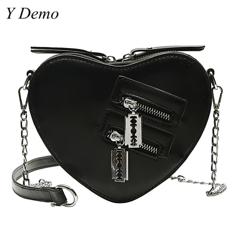 Punk Streetwear Women Blade Chain One Shoulder Bag Female Harajuku Casual Bag