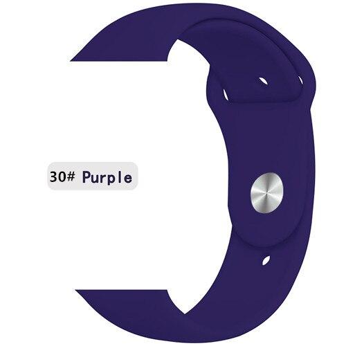 Ремешок для apple watch band 44 мм/40 мм iwatch band 5 4 42 мм 38 мм correa pulseira watch band для apple watch 5 4 3 браслет 44 мм - Цвет ремешка: purple 30