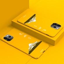Ultra-ince renkli mat sert PC telefon kılıfı için iPhone 12 11 Pro Max XSmax XR XS X 8 7 6s 6 artı sevimli kar dağ kapak