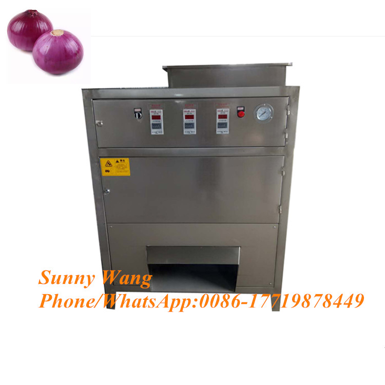 300kg/h Onion Skin Peeling Machine Onion Scallion Peeler Peeling Machine Green Onion Skin Removing Machine