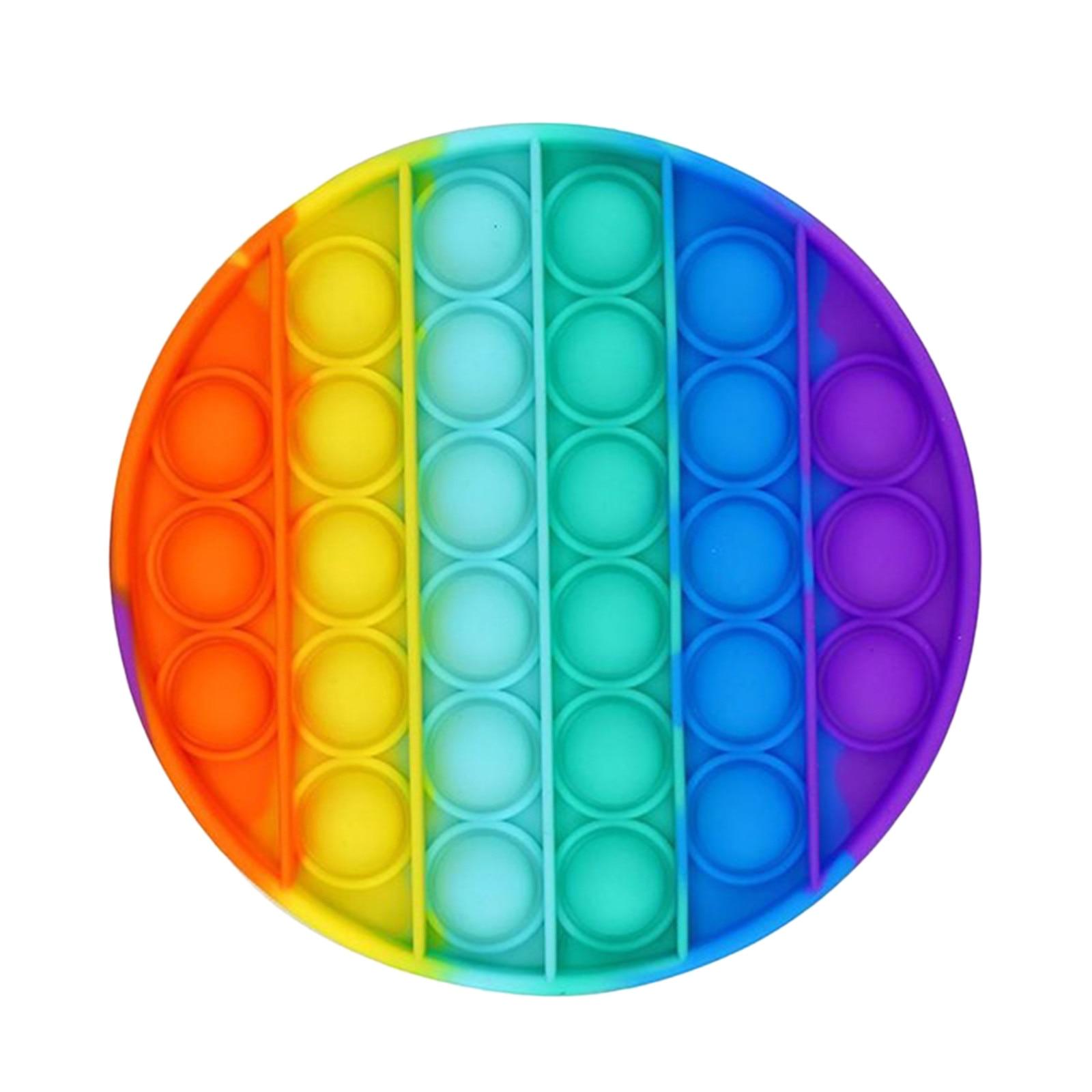 Adult Toys Autism Fidget Needs Rainbow Bubble-Sensory Anti-Stress Squishy Pop-It Push-Pops img1