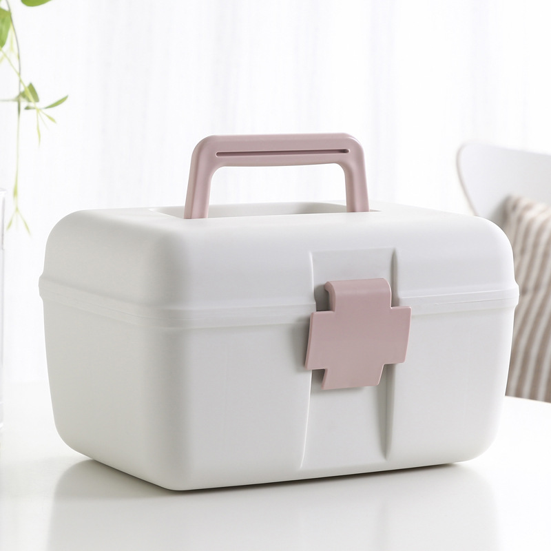 Family First Aid Box Emergency Kits Case Portable Wound Treatment Pills Storage Box For Home Car Travel