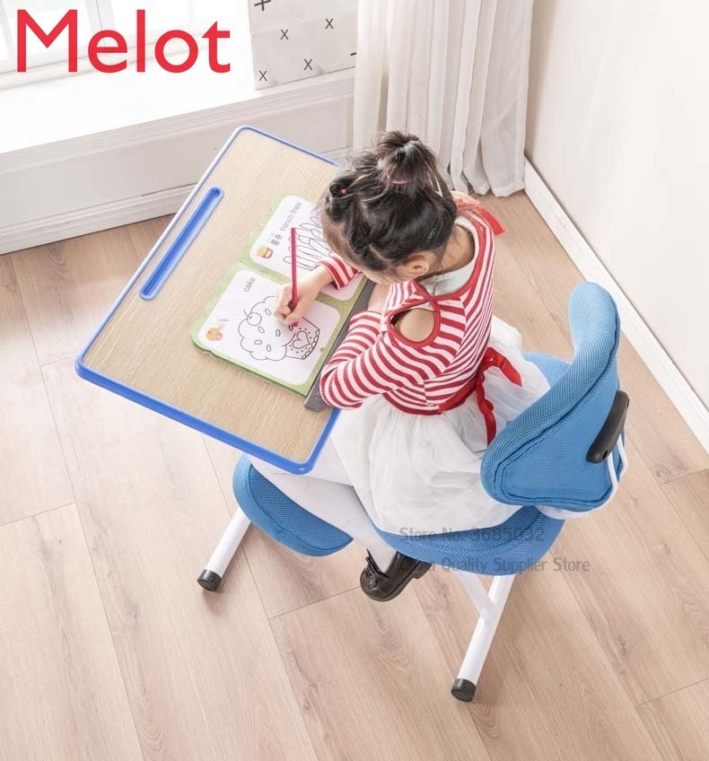 Adjustable Desktop Tablet Training Chair With Writing Board Adjustable Height Angle Lifting Chair With Mesh Backrest bear 150kg