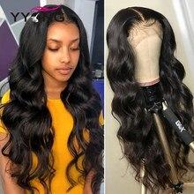 YYONG 30 cal wstępnie oskubane przezroczyste 13x4 koronki przodu włosów ludzkich peruk dla czarnych kobiet malezyjski ciało fala 4x4 zamknięcie koronki peruka