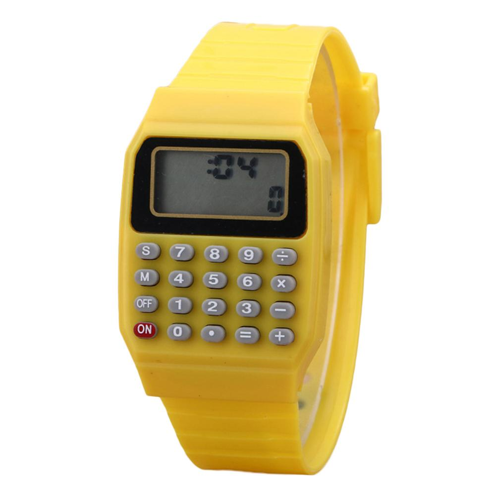 Children Digital Square Wrist Watch Mini Portable Calculator Exam Tool Kids Gift