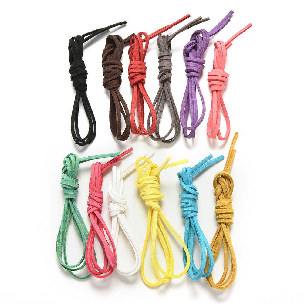 3 pçs 1m 3mm coreano veludo cabo de couro plana camurça do falso diy corda linha jóias fazendo artesanato decorativo acessórios