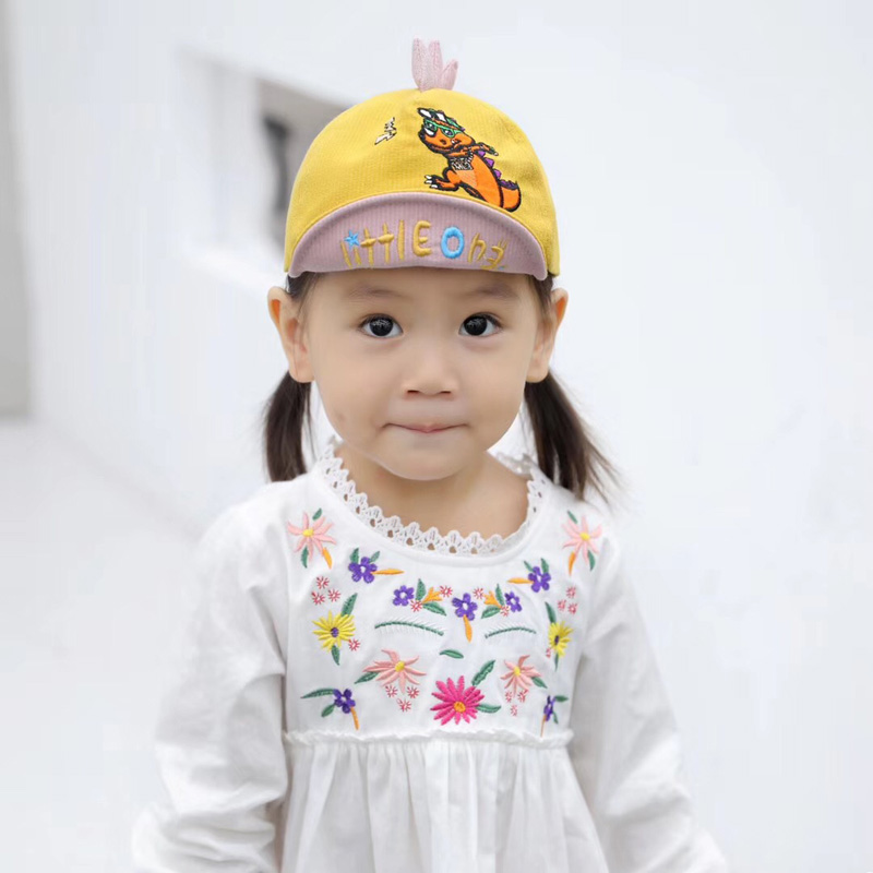 H8c36da797efd4e1b8884192a3d2799d2Y - Spring Autumn Baby Baseball Cap Cartoon Dinosaur Baby Boys Caps Fashion Toddler Infant Hat Children Kids Baseball Cap