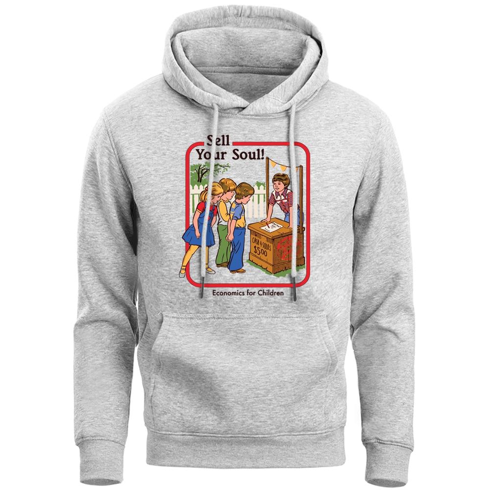 Sell Your Soul Funny Horror Hoodie Sweatshirt Men Satan Demon Death Scary Evil Satanism Grim Evil Hoody Warm Fleece Men'S Hoddie