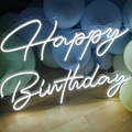 Custom Neon Sign Happy Birthday LED Wall Light Chandeliers for Bedroom Neon Signs for Room Neon Wall Signs Led Neon Light