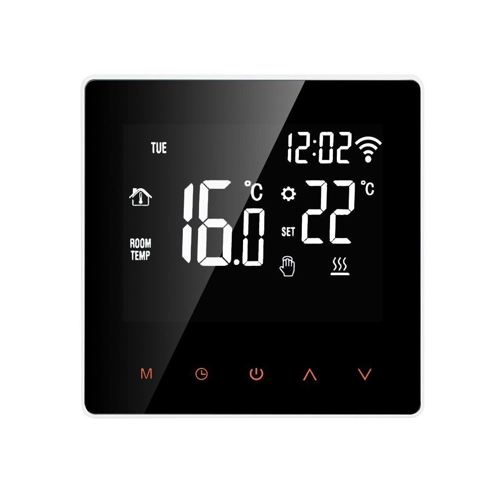 16a wifi inteligente termostato controlador de temperatura digital app controle display lcd tela toque para aquecimento piso elétrico