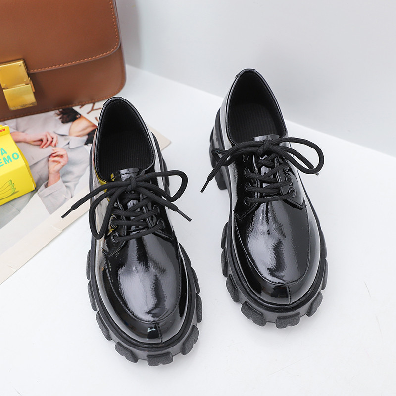 Leather PU Autumn Creepers Shoes Plus Size 40 Women Shoes Ladies Platform Moccasin 2020 Women Flats Female Thick Muffin Loafer