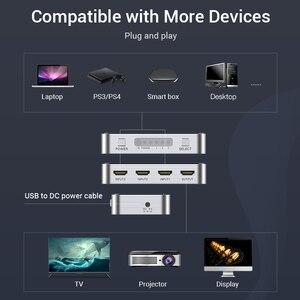 Image 3 - สวิตช์ HDMI 4K 3 in 1 OUT HDMI2.0 Switcher Splitter พร้อมรีโมทคอนโทรลสำหรับ PS4 PC TV xbox 2.0 อะแดปเตอร์ HDMI