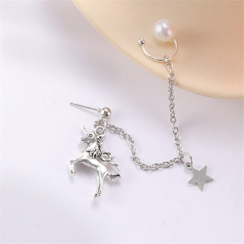 Flybloom Unicorn Necklace Pendant Chain Necklace Charm Accessories for Women Girls Silver Plated