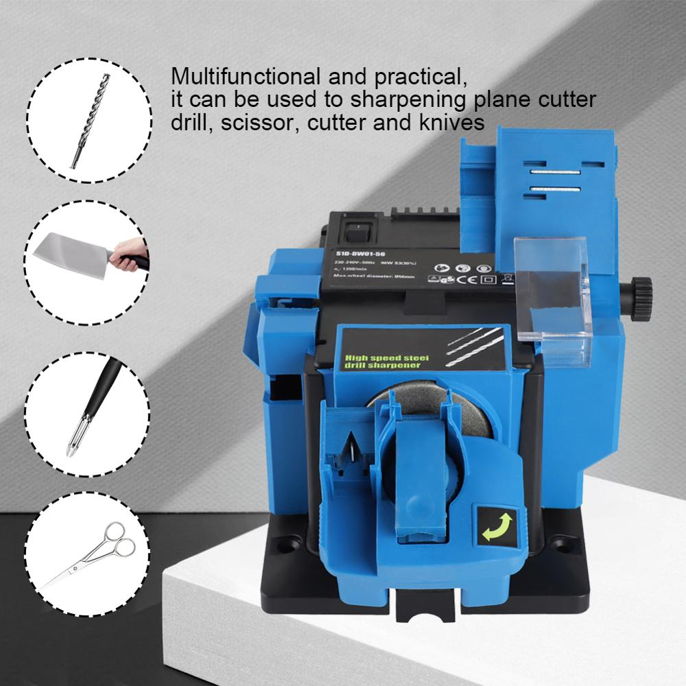 Image 2 - 3 In 1 Multifunction Electric Knife Sharpener Drill Sharpening Machine Knife & Scissor Sharpener Household Grinding Tools EU/US-in Sharpeners from Home & Garden