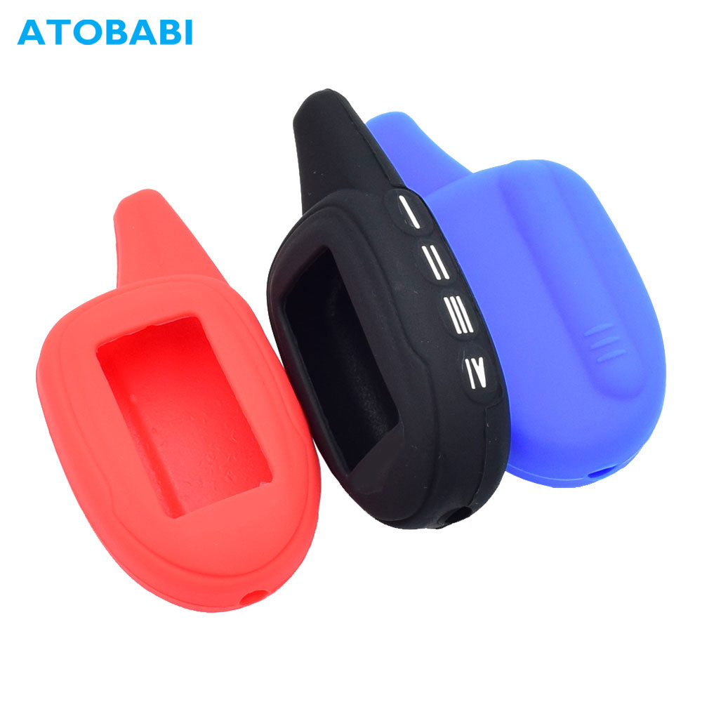 Silicone Car Key Case For Scher-Khan Magicar 7 8 9 10 11 12 Two Way Car Alarm LCD Remote Control Protector Cover Keychain Bag